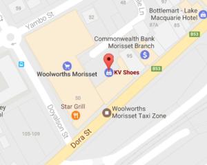 kv shoes map